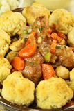 Chicken And Dumpling Casserole Stock Photo