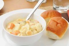 Chicken dumpling soup Stock Images