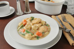 Chicken and dumplings Stock Photography