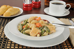 Chicken and dumplings Royalty Free Stock Images