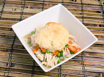 Chicken and dumplings in a bowl Royalty Free Stock Images