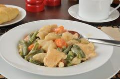 Chicken and dumplings Stock Photo