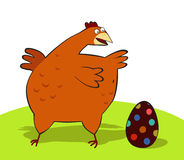 Chicken and Easter Egg. Illustration Chicken and Easter Egg Stock Photo