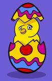Chicken in easter egg cartoon illustration Stock Photos