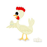 Chicken and Easter egg Stock Images