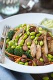 Chicken Edamame Salad Stock Images