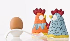 Chicken and egg Stock Photos