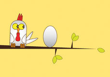 Chicken and Egg stock illustration