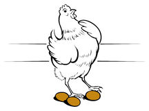 Chicken egg. In  style Royalty Free Stock Photography