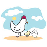 Chicken and Egg Stock Images