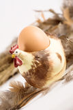 Chicken with an egg Royalty Free Stock Photo