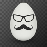 Chicken Egg with hipster mask. Vector. Stock Photography
