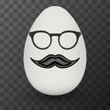 Chicken Egg with hipster mask. Vector. Royalty Free Stock Image