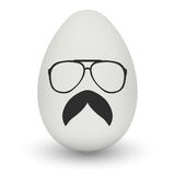 Chicken Egg with hipster mask. Vector. Stock Photos