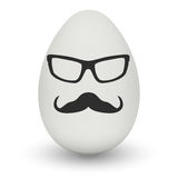 Chicken Egg with hipster mask. Vector. Stock Images