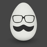Chicken Egg with hipster mask. Vector. Royalty Free Stock Photography
