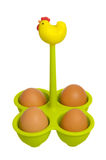 Chicken egg holder Royalty Free Stock Image