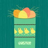 Chicken egg icon. Easter day chicken egg icon. Cute color holiday sunday symbols. Festive decorative vintage, comic cartoon. Traditional pattern ornate decorated Royalty Free Stock Images