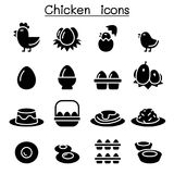 Chicken & Egg icons Royalty Free Stock Images