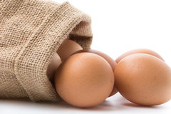 Chicken egg. Isolated on white background royalty free stock image