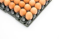 Chicken egg in the package Royalty Free Stock Images