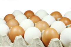 Chicken egg in a paper box Royalty Free Stock Photo
