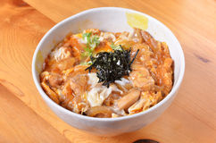 Chicken and egg rice bowl Royalty Free Stock Photography