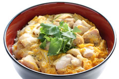 Chicken and egg on rice , japanese cuisine Stock Photo