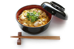 Chicken and egg on rice , japanese cuisine Stock Photography
