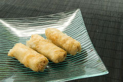 Chicken egg rolls Stock Photography