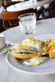 Chicken and egg sandwich Royalty Free Stock Photography