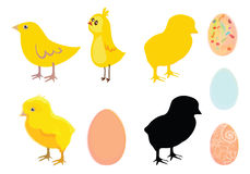 Chicken and egg. Vector illustration of chickens and eggs, easter Stock Photography