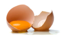 Chicken egg on white background Royalty Free Stock Photo