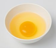 Chicken egg yolk Royalty Free Stock Image