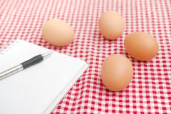 Chicken egges on the table Royalty Free Stock Image