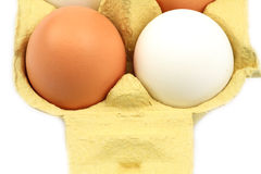 Chicken eggs in carton Royalty Free Stock Photography