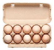 Chicken Eggs in Container Stock Photo
