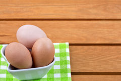 Chicken eggs - easter background Stock Image