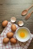 Fresh egg in bowl ready to cook. Chicken Eggs, Fresh egg in bowl ready to cook Royalty Free Stock Photography