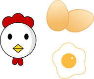 Chicken and eggs Stock Photography