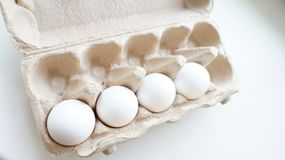Chicken eggs in the package Stock Image