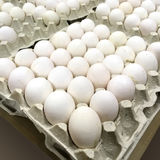 Chicken eggs in packing Royalty Free Stock Photography