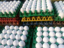 Chicken eggs for sale Royalty Free Stock Photos