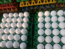 Chicken eggs for sale Stock Photos