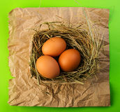 Chicken eggs Royalty Free Stock Photo