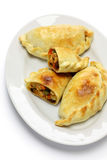 Chicken empanada, argentina food. Empanadas de pollo, chicken empanada, argentina food Stock Photos
