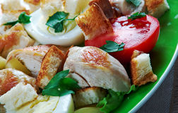 Chicken ensalada cezar Royalty Free Stock Photo
