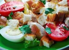 Chicken ensalada cezar Stock Images