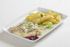 Chicken escalope Stock Image