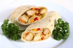 Chicken fajita close-up Royalty Free Stock Image